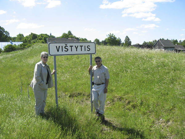 Our first stop: The entrance to Vištytis