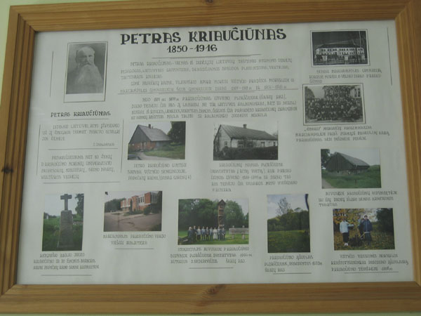 This collage represents the evolution of the Vištytis Secondary School.