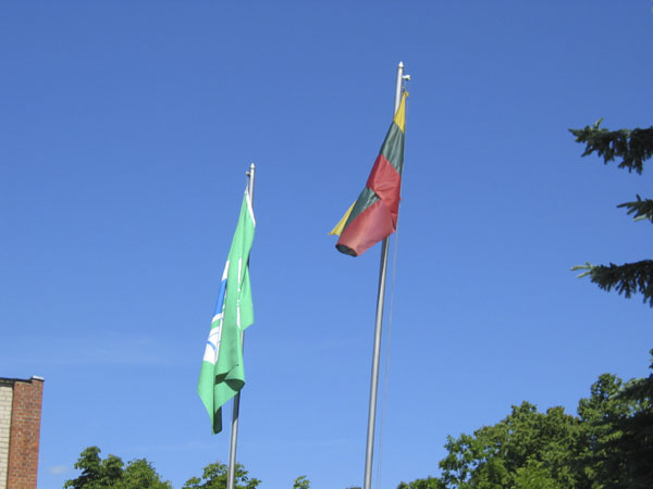 The Green Flag, awarded for the school's conservation program.